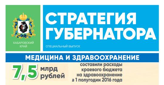 Специальный выпуск газеты «Стратегия губернатора», посвященный медицине и здравоохранению